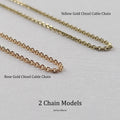 10K - 14K Yellow Gold Cable Chain