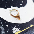 Rose Gold Bird Skull Septum Ring 14K