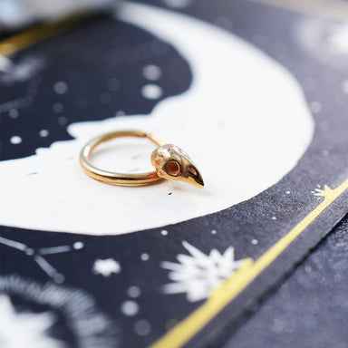 14K Rose Gold Bird Skull Septum Ring-Septum-Inchoo Bijoux-Inchoo Bijoux