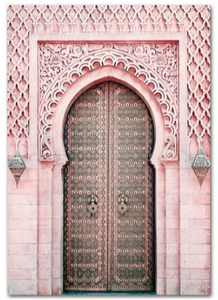 Pink Mosque Gate - HAYA Home Decor