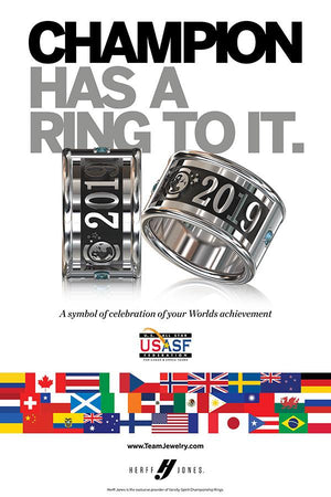 2019 USASF Worlds Cheer Ring Poster