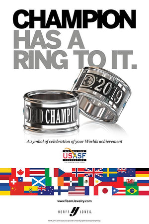 2019 USASF Worlds Dance Ring Poster