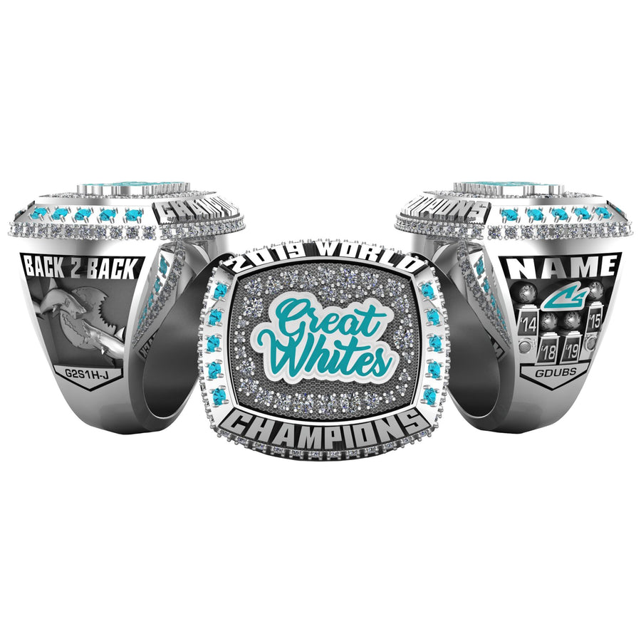 Cheer Sport Sharks Great Whites - 2019 Worlds (5X)