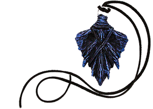 Winter Twilight Dragon Scale Pendant