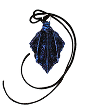 Load image into Gallery viewer, Winter Twilight Drake Scale Pendant