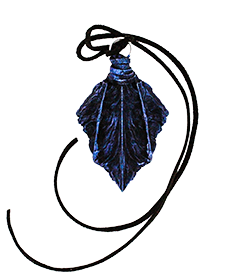 Winter Twilight Drake Scale Pendant