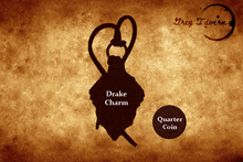 Load image into Gallery viewer, Silver Drake Scale Charm