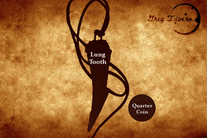 Winter Twilight Lung Tooth Pendant