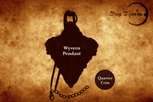 Load image into Gallery viewer, Dark-Fey Wyvern Scale Pendant