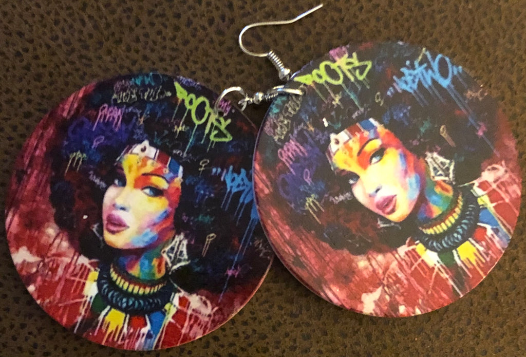 Colorful Afrocentric Circle Earrings