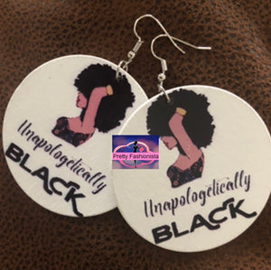 """Unapologetically Black"" Circle Earrings"