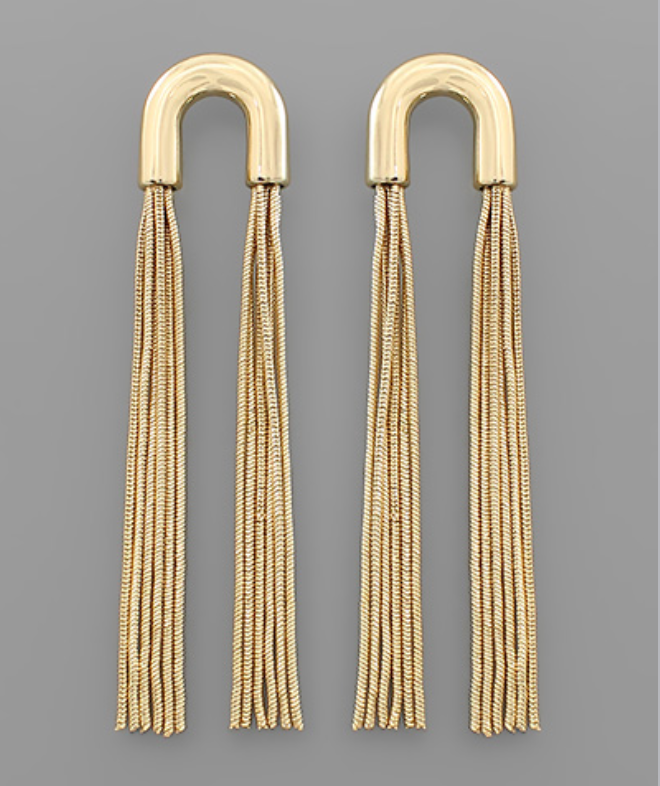 Arch and Tassel Earrings