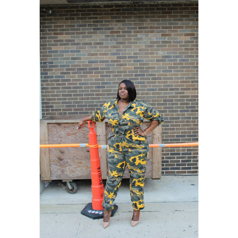 Jane Camo Jumpsuit