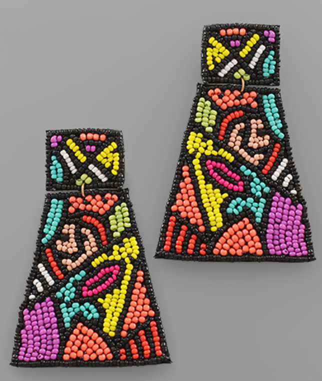 Multicolor Trapezoid Earrings