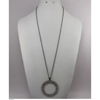Paved Circle Necklace