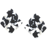Matte Acetate Curved Shape Earrings