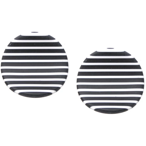 Matte Acetate Curved Disc Earrings