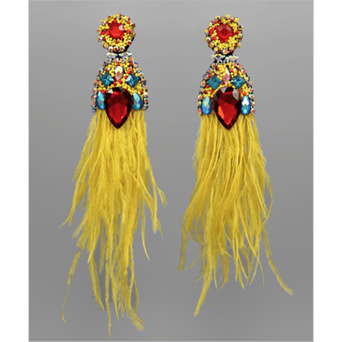 Feather Jewel Earrings