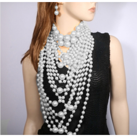 3 Piece Pearl Body Necklace Set