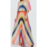 Pandora Off Shoulder Pleat Maxi
