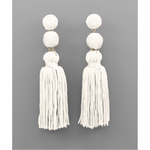 Tiered Ball & Tassel Earrings