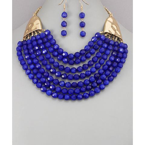 Beaded Layer Necklace Set