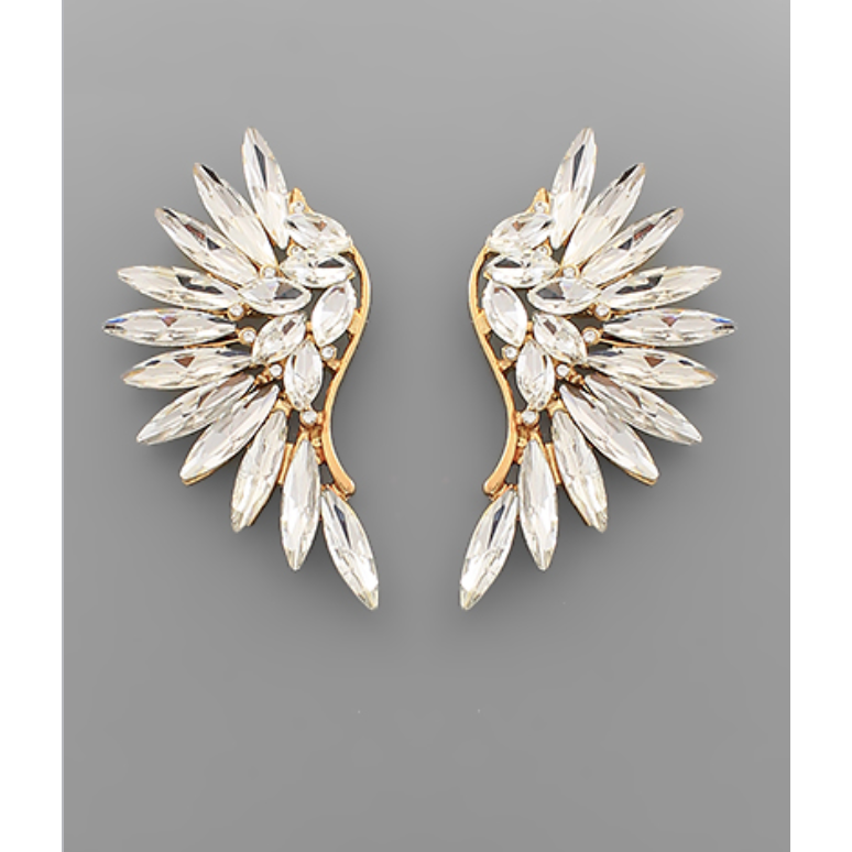 Pavé Crystal Wing Earrings