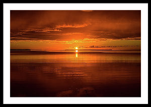 Framed fine art print of an explosive sunrise over the Everglades National Park in southern Florida.