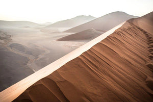 Fine photographic and art print of sunrise at Dune 45 in the Namib Desert's Sossusvlei area in Namibia.