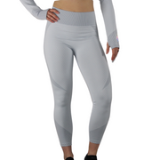 The three dimensional nature of this honeycomb structure provides a high elasticity and rebound resilient pair of leggings. Our carefully placed color contrasting stripe fabric shows off your curves perfectly accompanied with tummy control and butt lifting elements. As with any light color fabric, best suited with light color undergarments for a sleek look. Compliments beautifully with our matching zip up crop top
