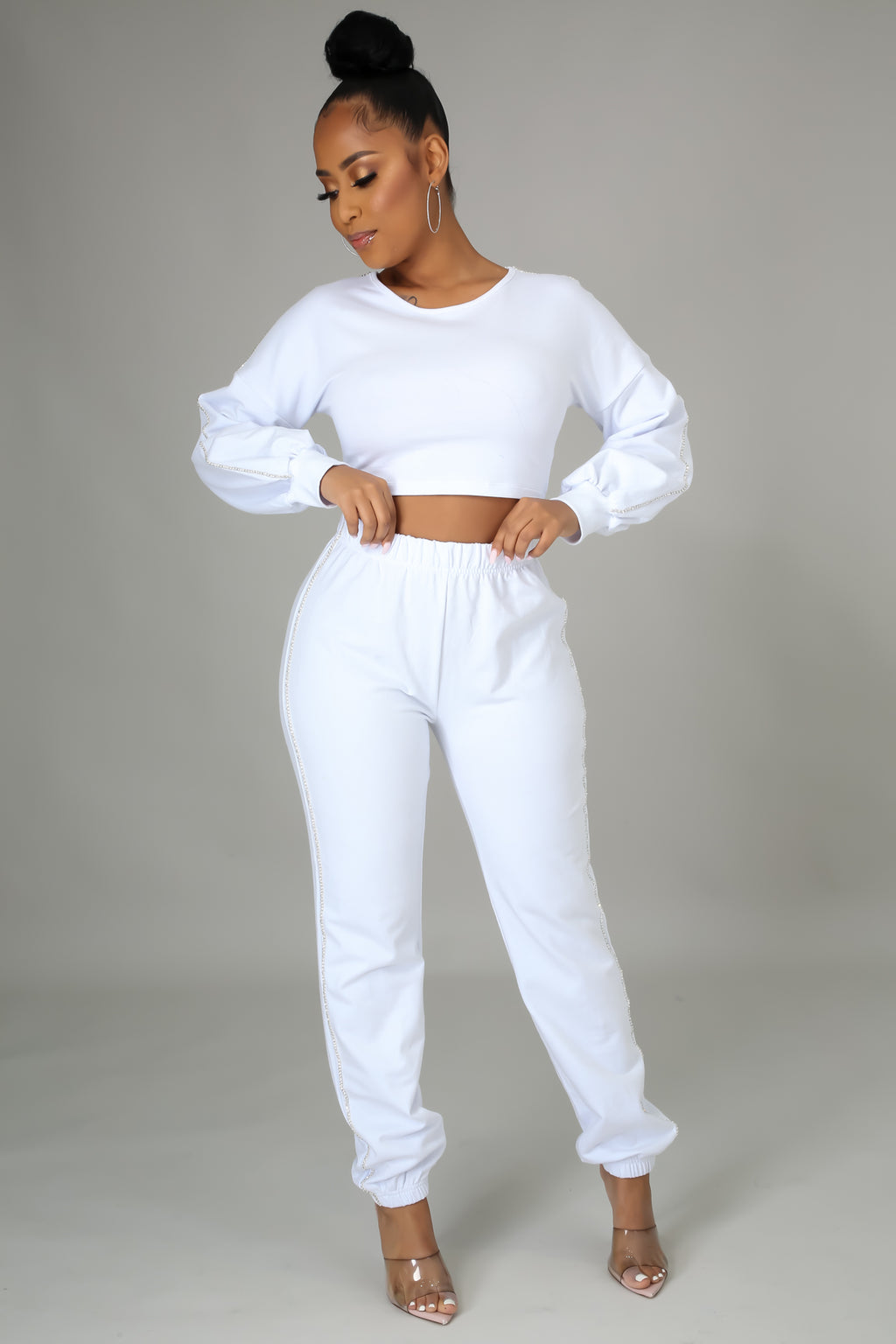 Sparkle Lounging Pant Set - Classy & Sassy Styles Boutique