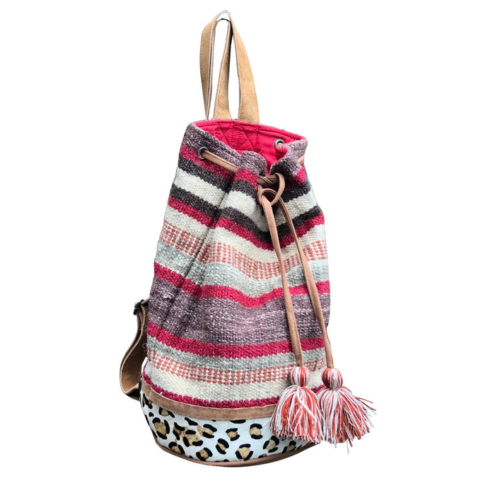 Autumn Stripes Bucket Tote (Backpack)