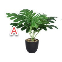 ARTIFICIAL PLANT IN BLACK PLANTER, 2 ASSORTED