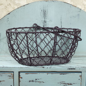 Lil' Oval Chicken Wire Basket