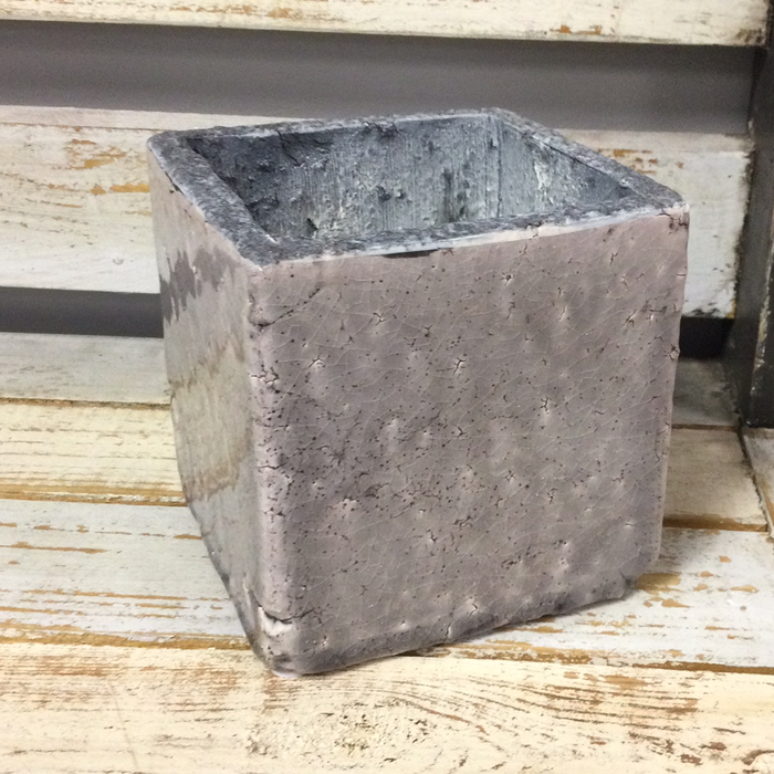 Blue/Gray Square Pot