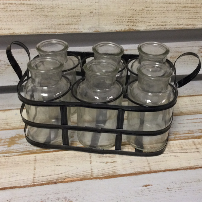 Glass jar set with holder