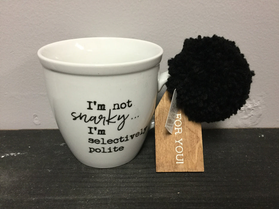 Coffee mug with Pom pom