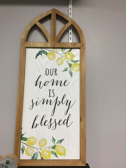 Our home is simply blessed window wall art