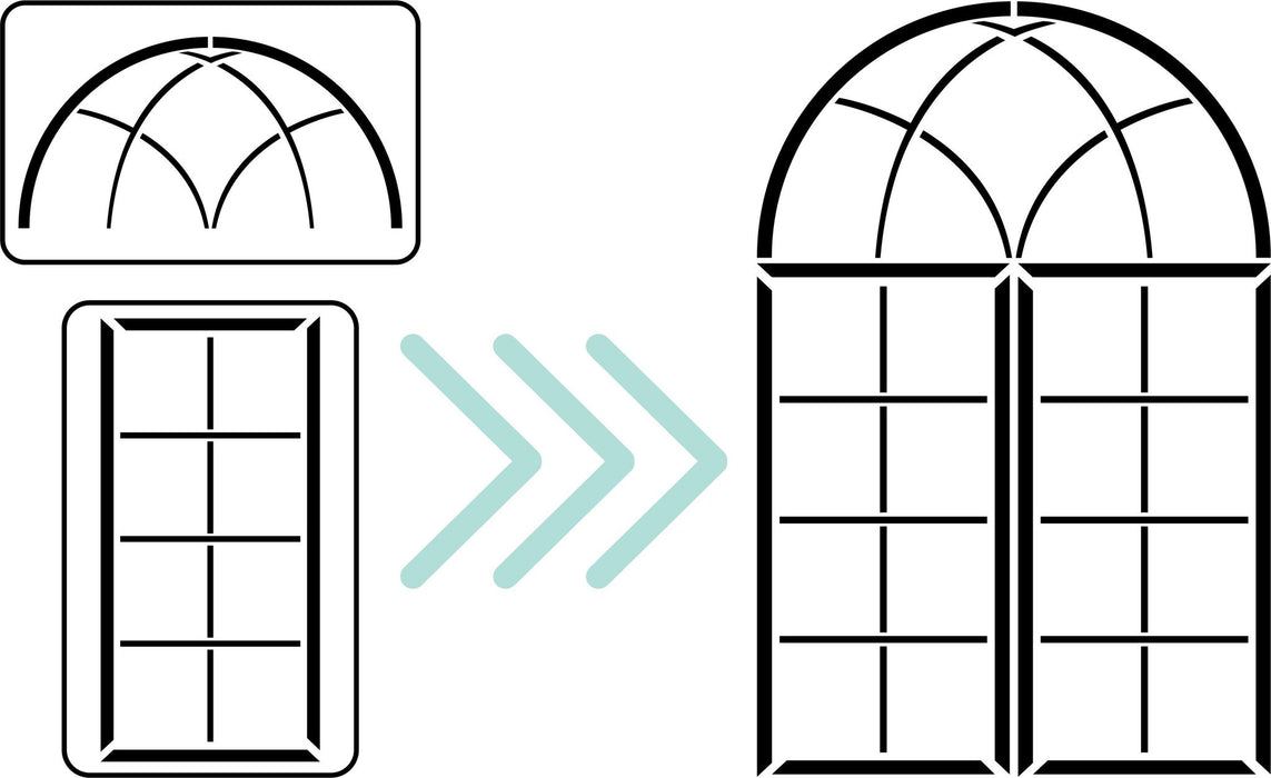 Window Maker Set Stencil