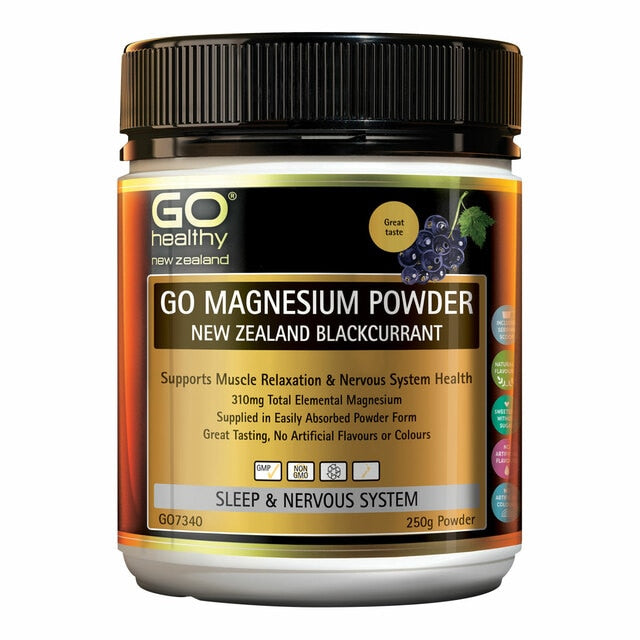 GO Magnesium Powder - NZ Blackcurrant