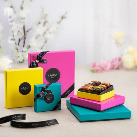 Bateel Luxury Organic Dates - Yellow Spring Gift Box