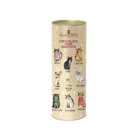 Grandma Wild's Cats in Jumpers Chocolate Chip Biscuits Tube (200g)