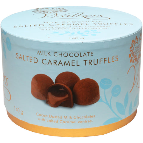 Walkers Salted Caramel Truffles Drum 140g