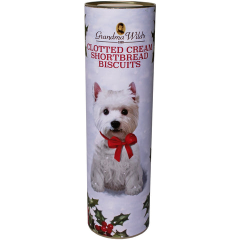 Grandma Wild's Clotted Cream Shortbread Biscuits Westie Tube (200g)