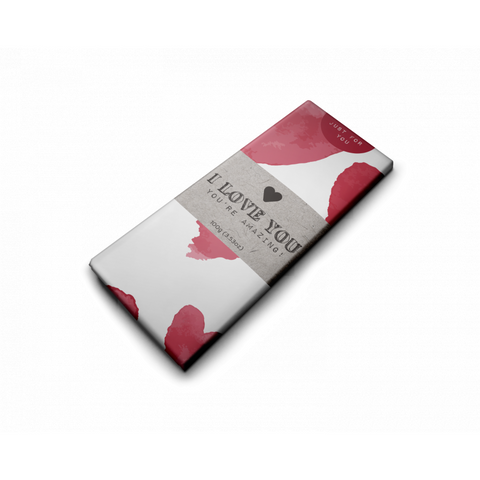I  love You Bar valentine's day chocolate gift