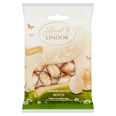 Lindt Lindor White Chocolate Eggs 80G