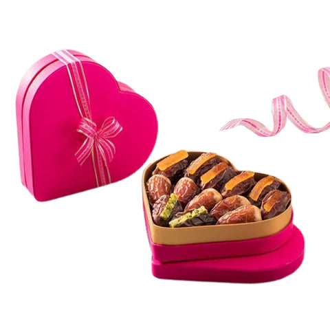 Bateel Organic Luxury Dates Amore Heart Shaped Gift Box 235g