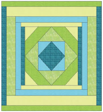 Squared Queen Quilt Pattern