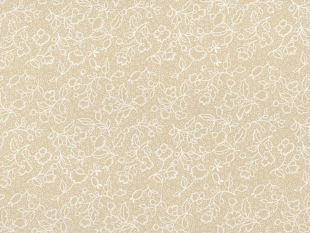 Neutral Tea Stain Floral Backing