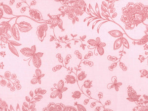 Pink Flowers and Butterflies Backing